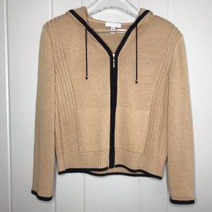 St. John Sport Wool Zip Up Hoodie